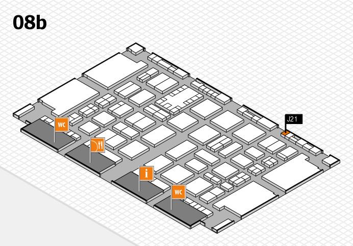 TOP HAIR DÜSSELDORF 2017 hall map (Hall 8b): stand J21