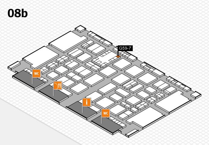 TOP HAIR DÜSSELDORF 2017 hall map (Hall 8b): stand G59-7