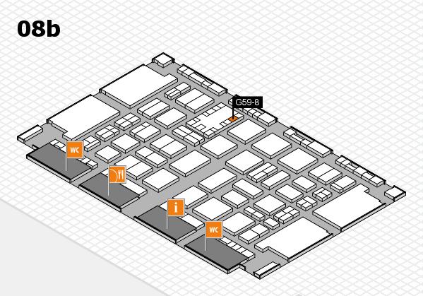TOP HAIR DÜSSELDORF 2017 hall map (Hall 8b): stand G59-8