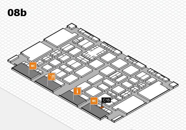 TOP HAIR DÜSSELDORF 2017 hall map (Hall 8b): stand C16