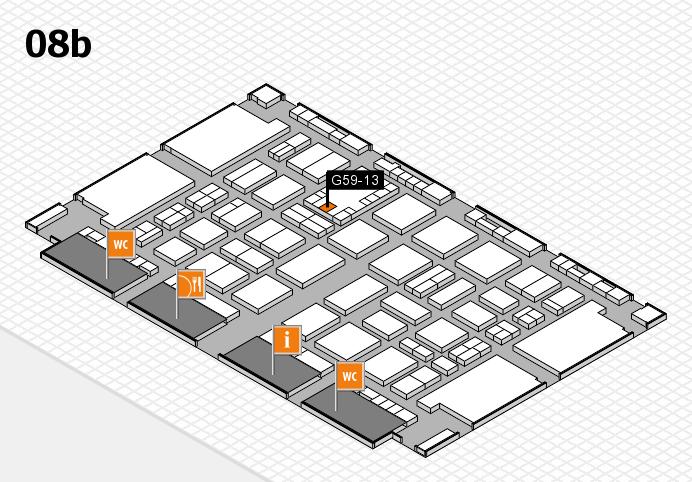 TOP HAIR DÜSSELDORF 2017 hall map (Hall 8b): stand G59-13