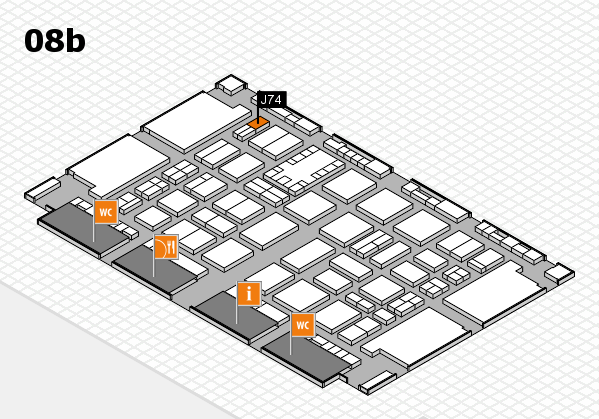 TOP HAIR DÜSSELDORF 2017 hall map (Hall 8b): stand J74