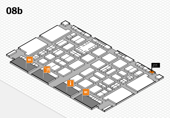 TOP HAIR DÜSSELDORF 2017 hall map (Hall 8b): stand J11