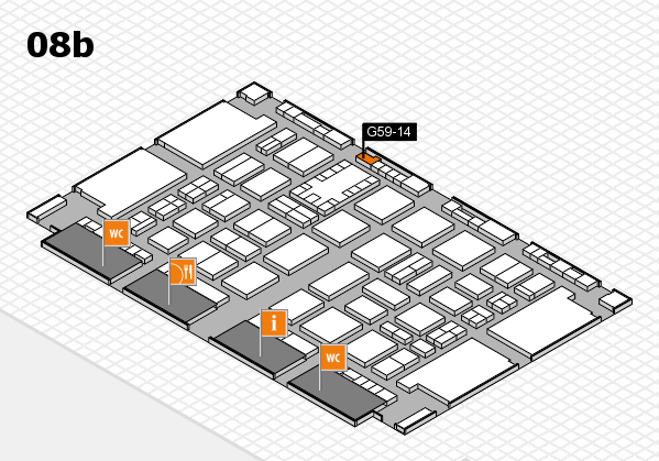 TOP HAIR DÜSSELDORF 2017 hall map (Hall 8b): stand G59-14