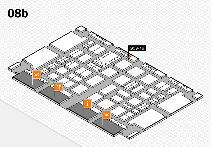 TOP HAIR DÜSSELDORF 2017 hall map (Hall 8b): stand G59-18