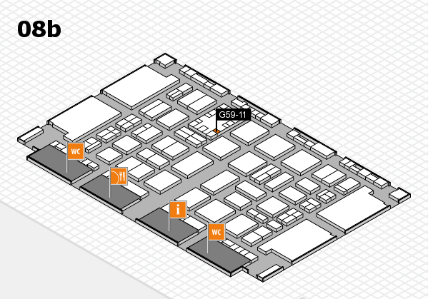 TOP HAIR DÜSSELDORF 2017 hall map (Hall 8b): stand G59-11