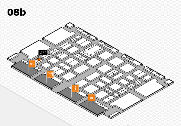 TOP HAIR DÜSSELDORF 2017 hall map (Hall 8b): stand D74