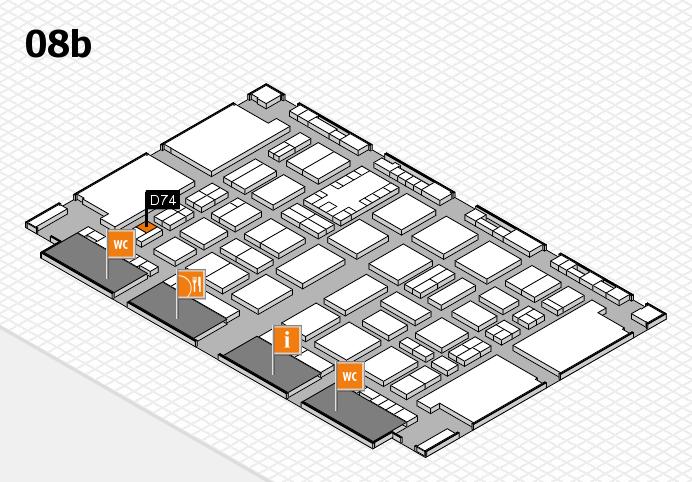 TOP HAIR DÜSSELDORF 2017 hall map (Hall 8b): stand D74