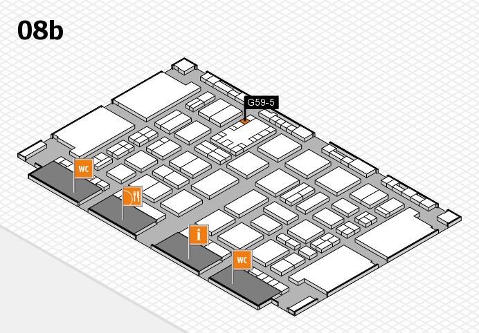 TOP HAIR DÜSSELDORF 2017 hall map (Hall 8b): stand G59-5