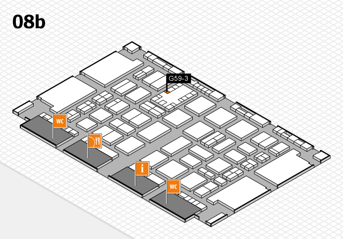 TOP HAIR DÜSSELDORF 2017 hall map (Hall 8b): stand G59-3