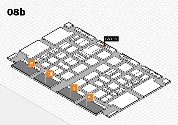 TOP HAIR DÜSSELDORF 2017 hall map (Hall 8b): stand G59-16