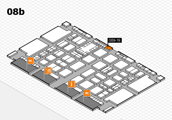 TOP HAIR DÜSSELDORF 2017 hall map (Hall 8b): stand G59-19