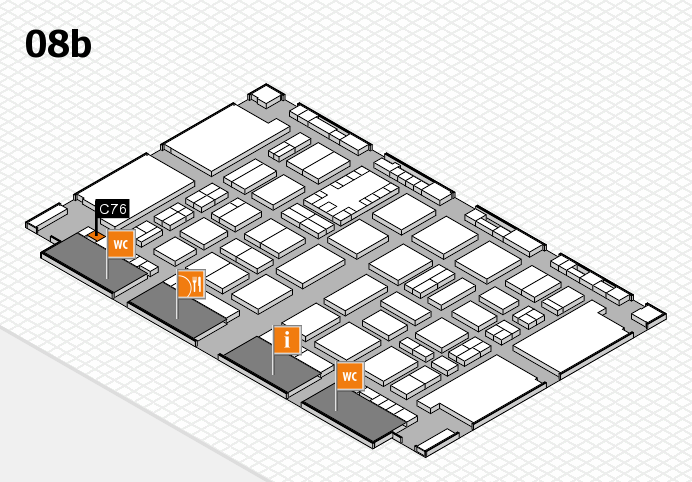 TOP HAIR DÜSSELDORF 2017 hall map (Hall 8b): stand C76