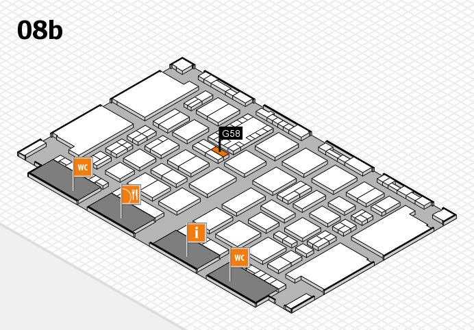 TOP HAIR DÜSSELDORF 2017 hall map (Hall 8b): stand G58