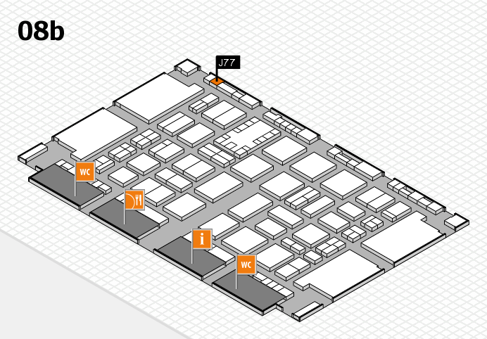 TOP HAIR DÜSSELDORF 2017 hall map (Hall 8b): stand J77