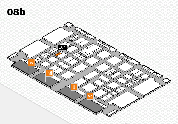 TOP HAIR DÜSSELDORF 2017 hall map (Hall 8b): stand E67