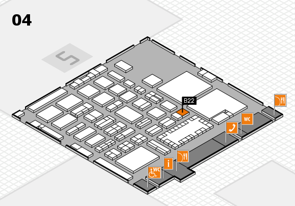 TOP HAIR - DIE MESSE 2018 hall map (Hall 4): stand B22