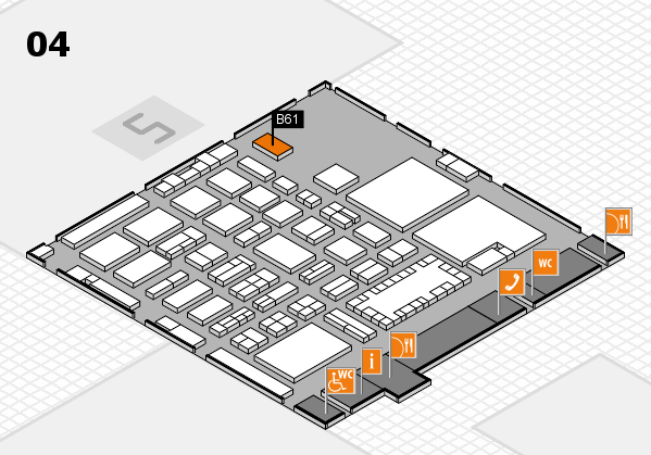 TOP HAIR - DIE MESSE 2018 hall map (Hall 4): stand B61