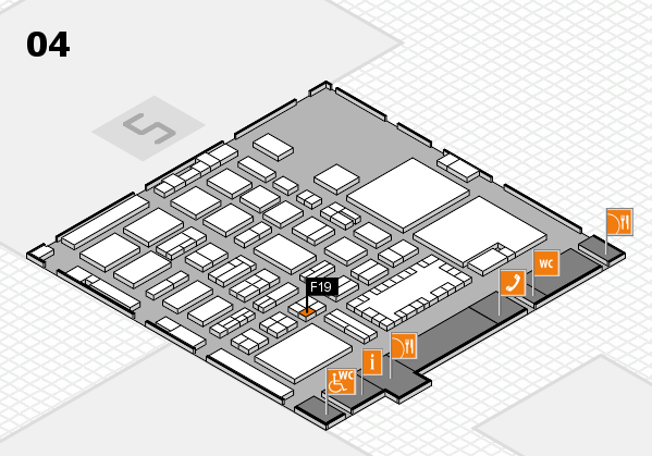 TOP HAIR - DIE MESSE 2018 hall map (Hall 4): stand F19