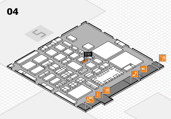 TOP HAIR - DIE MESSE 2018 hall map (Hall 4): stand D33
