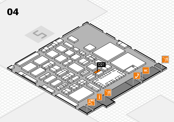 TOP HAIR - DIE MESSE 2018 hall map (Hall 4): stand D21