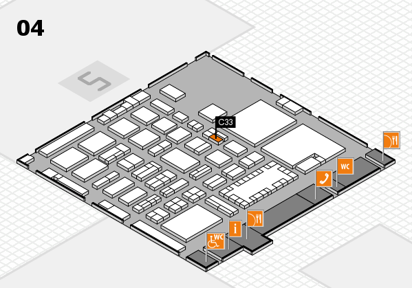 TOP HAIR - DIE MESSE 2018 hall map (Hall 4): stand C33