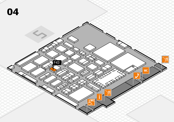 TOP HAIR - DIE MESSE 2018 hall map (Hall 4): stand F43