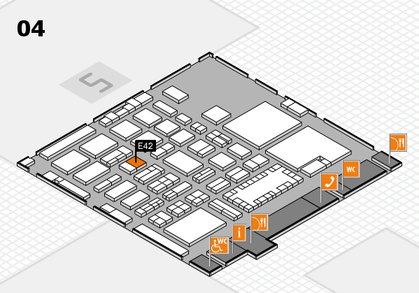 TOP HAIR - DIE MESSE 2018 hall map (Hall 4): stand E42