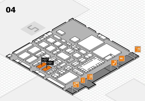 TOP HAIR - DIE MESSE 2018 hall map (Hall 4): stand H31, stand H37