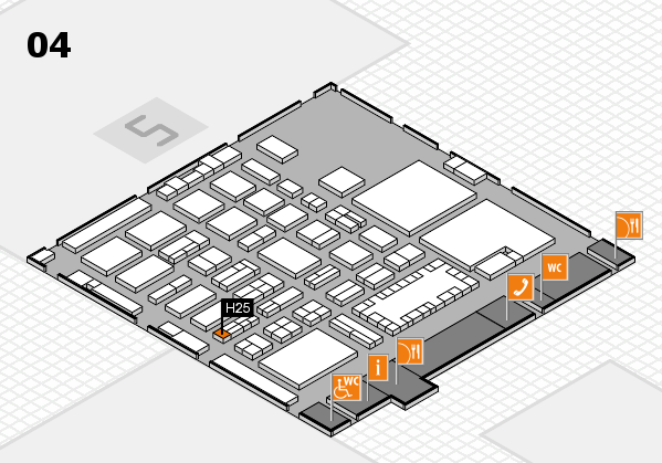 TOP HAIR - DIE MESSE 2018 hall map (Hall 4): stand H25