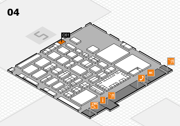 TOP HAIR - DIE MESSE 2018 hall map (Hall 4): stand C61