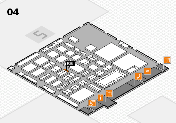 TOP HAIR - DIE MESSE 2018 hall map (Hall 4): stand E38