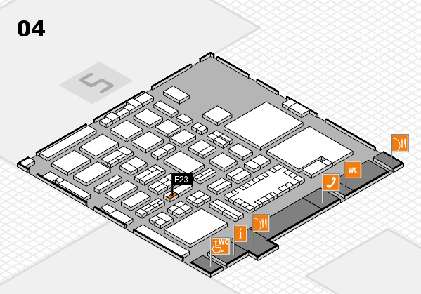 TOP HAIR - DIE MESSE 2018 hall map (Hall 4): stand F23