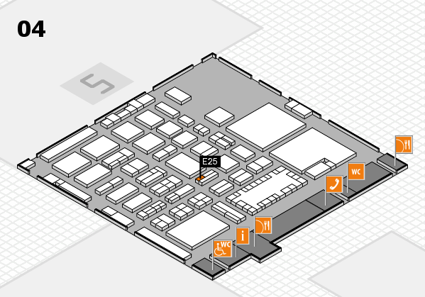 TOP HAIR - DIE MESSE 2018 hall map (Hall 4): stand E25