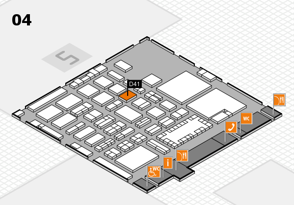 TOP HAIR - DIE MESSE 2018 hall map (Hall 4): stand D41