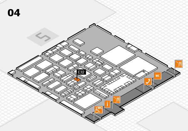 TOP HAIR - DIE MESSE 2018 hall map (Hall 4): stand E32