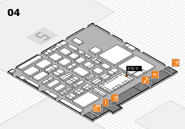 TOP HAIR - DIE MESSE 2018 hall map (Hall 4): stand E15-11