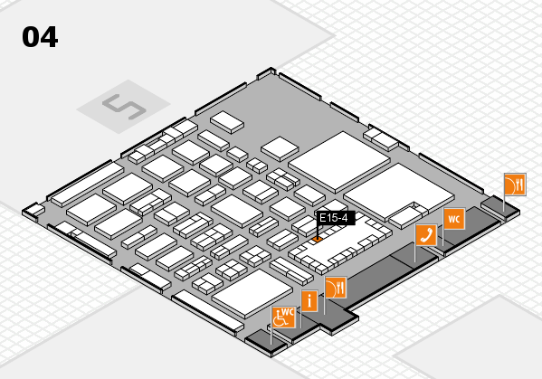 TOP HAIR - DIE MESSE 2018 hall map (Hall 4): stand E15-4