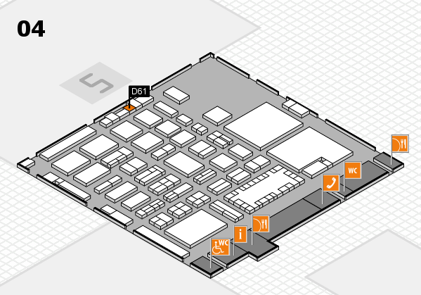 TOP HAIR - DIE MESSE 2018 hall map (Hall 4): stand D61