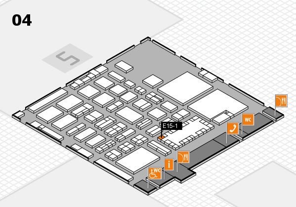 TOP HAIR - DIE MESSE 2018 hall map (Hall 4): stand E15-1