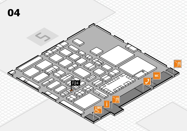 TOP HAIR - DIE MESSE 2018 hall map (Hall 4): stand F24