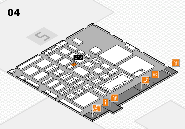 TOP HAIR - DIE MESSE 2018 hall map (Hall 4): stand D40