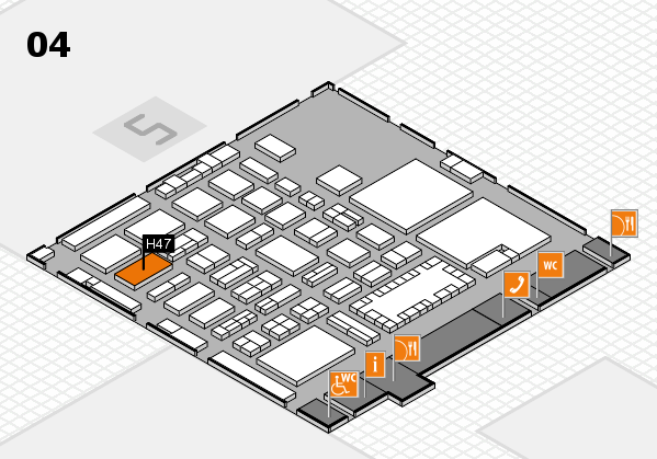 TOP HAIR - DIE MESSE 2018 hall map (Hall 4): stand H47