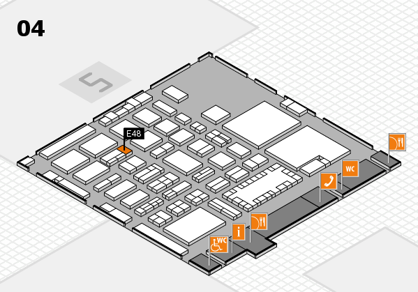 TOP HAIR - DIE MESSE 2018 hall map (Hall 4): stand E48