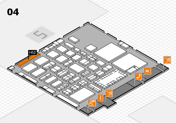 TOP HAIR - DIE MESSE 2018 hall map (Hall 4): stand H62