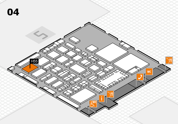 TOP HAIR - DIE MESSE 2018 hall map (Hall 4): stand H55
