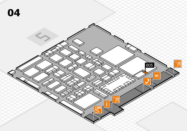 TOP HAIR - DIE MESSE 2018 hall map (Hall 4): stand B05