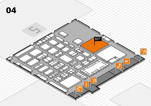 TOP HAIR - DIE MESSE 2018 hall map (Hall 4): stand B37