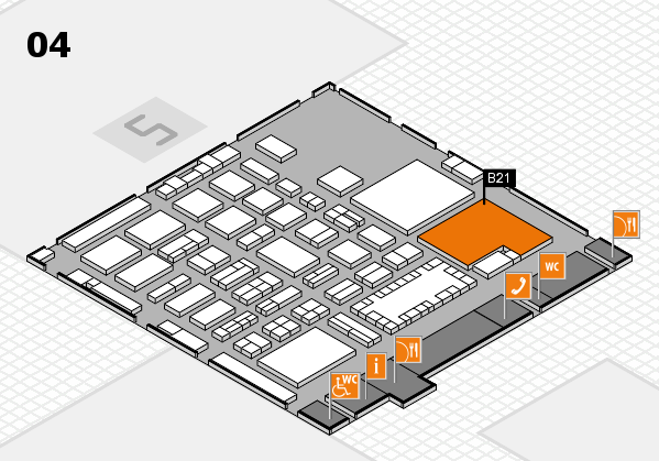 TOP HAIR - DIE MESSE 2018 hall map (Hall 4): stand B21