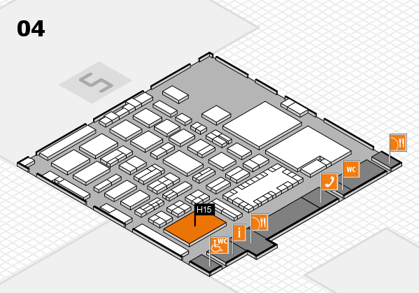 TOP HAIR - DIE MESSE 2018 hall map (Hall 4): stand H15